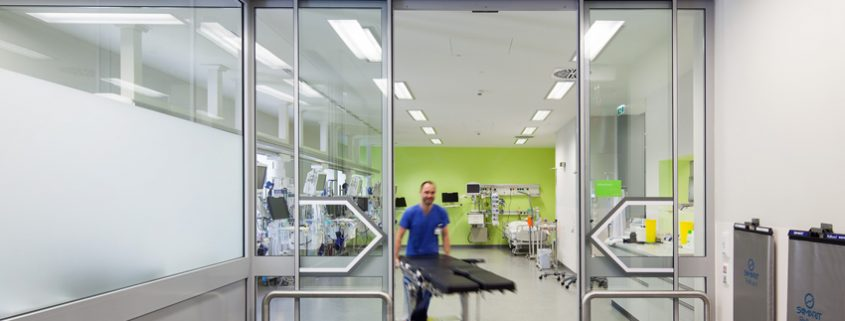 Das ist ein Foto vom 2016 frtig gestellten Operationsbereich im Franziskus Spital Margareten.