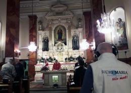 Lukasmesse in der Klosterkapelle der Franziskanerinnen von der christlichen Liebe